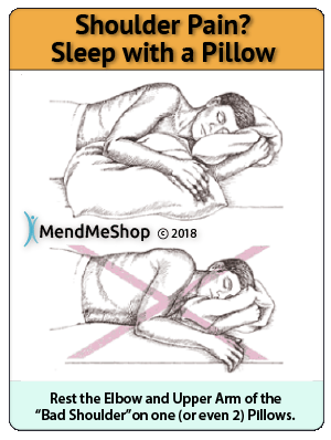 use pillow for shoulder pain when sleeping